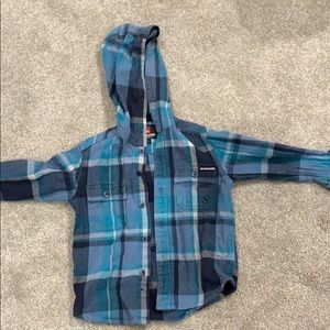 Quicksilver hooded flannel